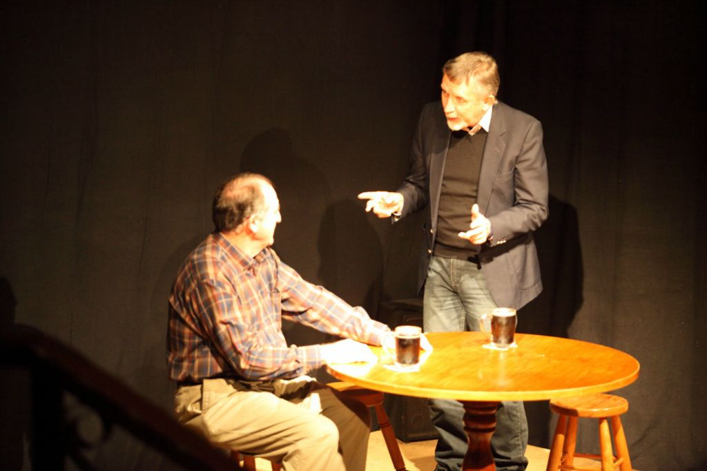 Tom (Bob Baunton) and Roy (Barry Magowan) in 'Triangles'